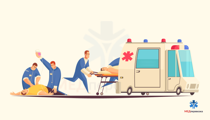 Полноценная транспортировка пациента от кровати до кровати