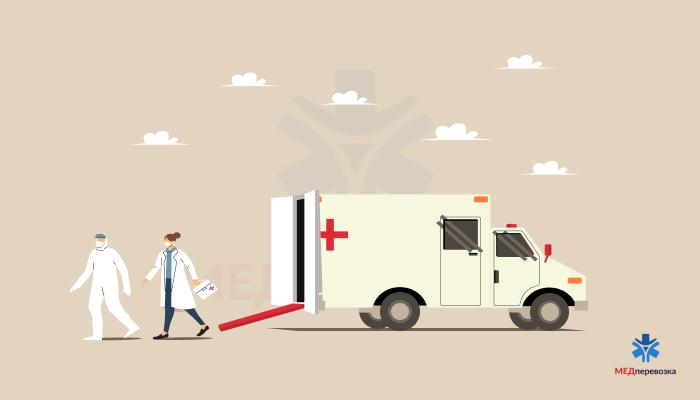 Перевезення лежачих хворих кваліфікованим персоналом